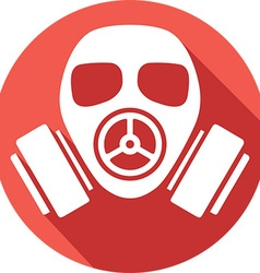 Gas mask icon vector