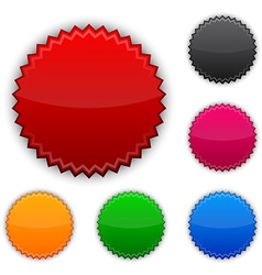 Glossy round award buttons vector image