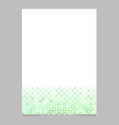 Green diagonal square pattern page template vector