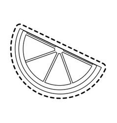 Lemon wedge icon image vector