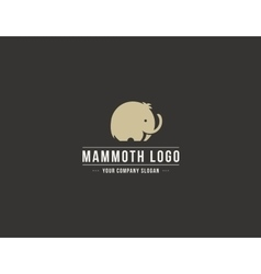 Mammoth silhouette logo Elephant symbol vector image