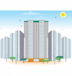 Multi-storied buildings vector