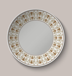 Plate with ornament stylized the ancient Roman vector image