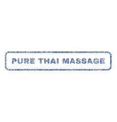 Pure thai massage textile stamp vector