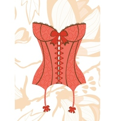 Sexy retro style corset vector image