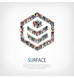 Surface people sign 3d vector