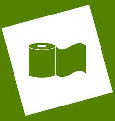 Toilet paper sign white icon obtained as vector