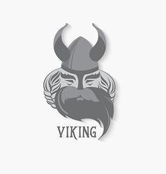 Viking logo vintage design vector