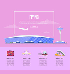 worldwide flying concept for airline advertising vector image vector image