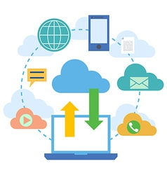 Web banners for cloud computing services and vector
