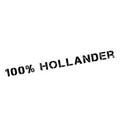 100 percent hollander rubber stamp vector