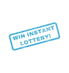 Win instant lottery rubber stamp vector