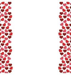 hearts love frame seamless pattern design vector image