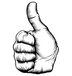 Thumbs up hand vector