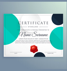 Minimal certificate diploma design with circles vector