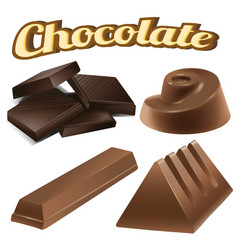 different designs of chocolate bars vector image