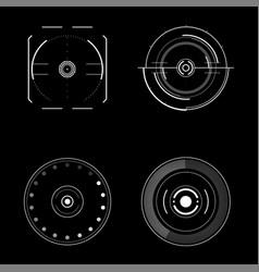 radar interface future vector image