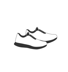 Shoe icon on white background vector