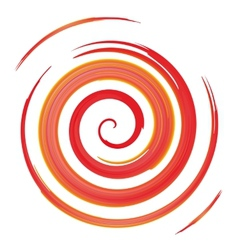 Red watercolor spiral vector