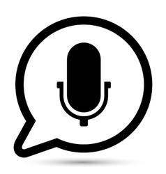 Bubble with microphone icon vector