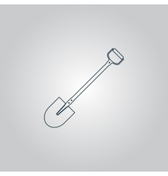 Shovel - icon vector