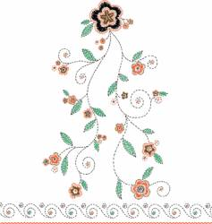 Embroidery flower vector