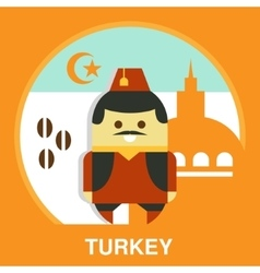 Turkish man in national costume vector