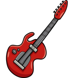 Electric guitar cartoon clip art vector