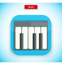 Music app icon flat style design vector