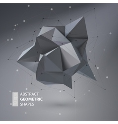 Abstract geometric shape triangular crystal vector