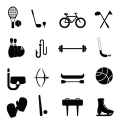 Sports and training icons vector