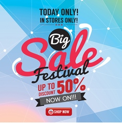 Big sale 50 percent banner vector