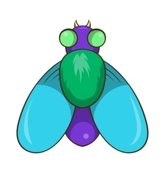 Fly icon cartoon style vector