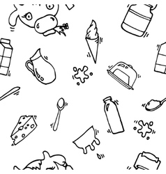 Milk icons pattern vector