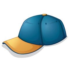 A blue cap vector image