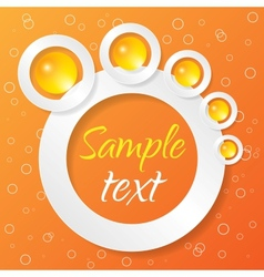 Abstract Applique on Color Background vector image vector image