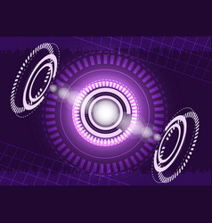 abstract digital technology purple background vector image
