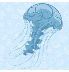 Abstract Jellyfish vector image