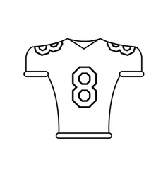 American football jersey uniform tshirt outline vector