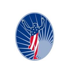 american marathon runner run race vector image vector image