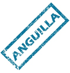 Anguilla rubber stamp vector image vector image