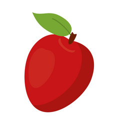 apple ripe fruit icon vector image