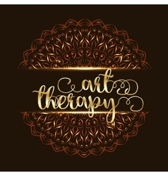 Art therapy mandala logo vector