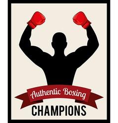 boxing emblem vector image