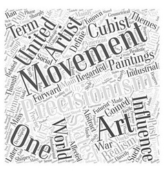 Buying paintings precisionism word cloud concept vector
