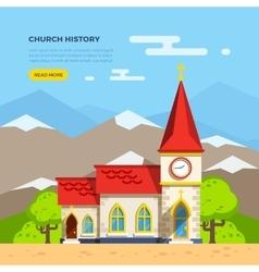 Church flat vector