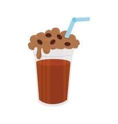 Coffee iced delicious icon vector