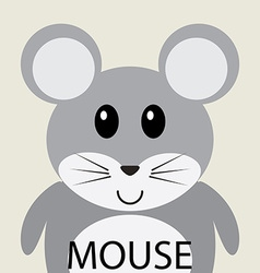 Cute grey mouse cartoon flat icon avatar vector image vector image