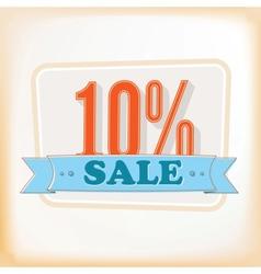 Discount labels 10 vector image
