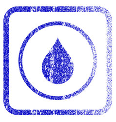 Drop framed textured icon vector